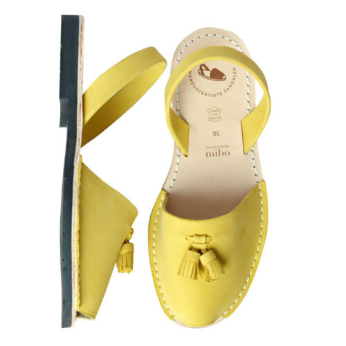 Avarcalove Avarca Sandalen Damen flach gelb
