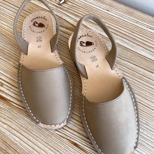 "Avarca Sandale ""Lauren"", grau/taupe"