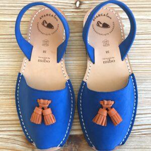 "Avarca Sandale ""Ally"", blau"
