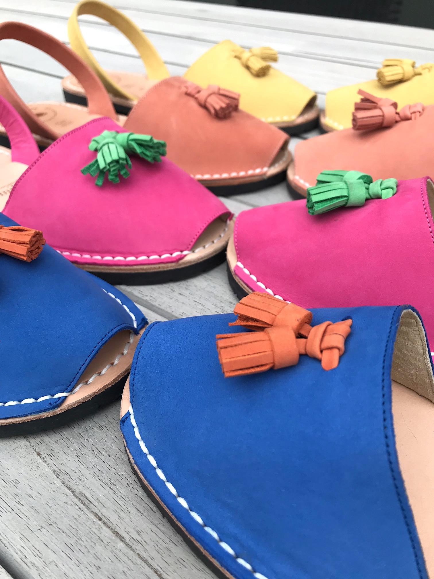 Avarcalove Sandale blau Damen flach