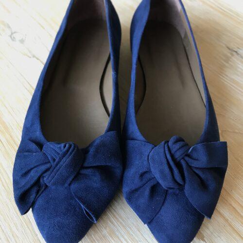 "Ballerinas ""Polly"" mit Schleife marineblau"