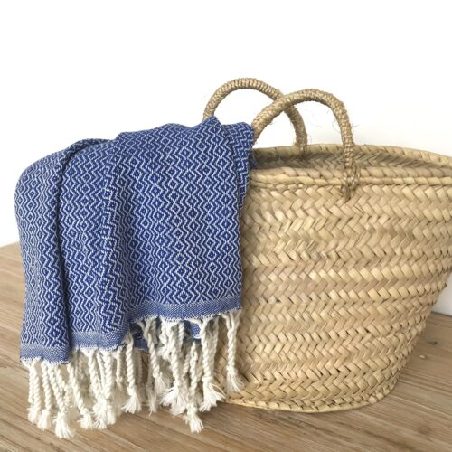 Baumwolltuch royalblau
