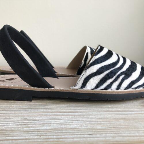 """Avarca Sandale """"Lauren"""" Zebra"""