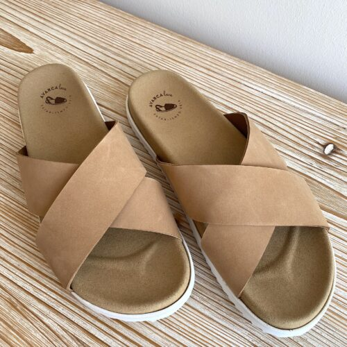 Sandale Tracy mit Fußbett karamell