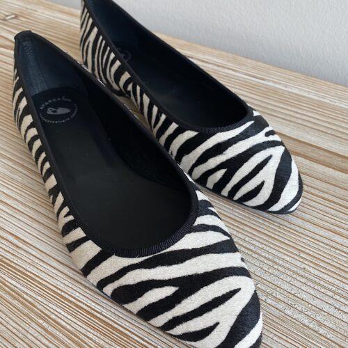 """NEU! Ballerinas """"Zebra"""" schwarz"""