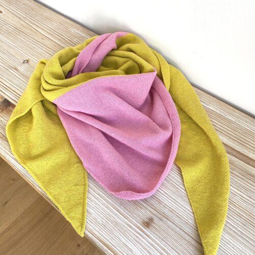 Dreieckstuch rosa/gelb