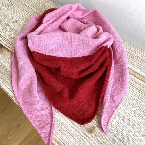 Dreieckstuch rosa/rot
